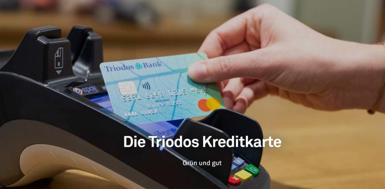 Die Kreditkarte der Triodos Bank
