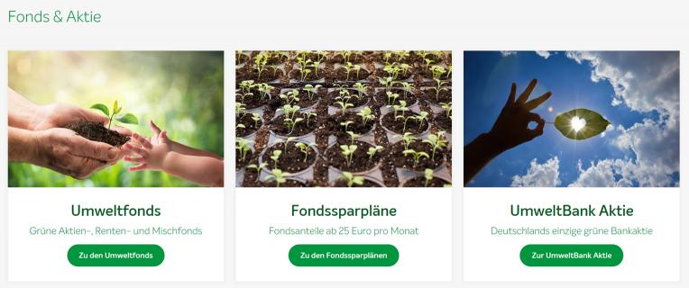 Umweltbank Fonds und Aktien