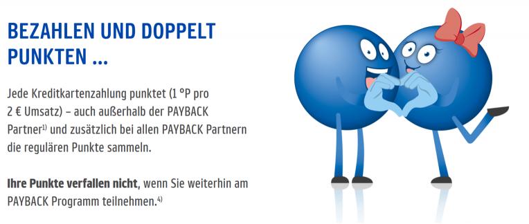 PayBack American Express - doppelt Punkten