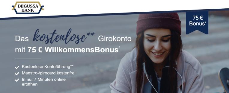 Das kostenlose Girokonto mit 75 € Willkommensbonus.