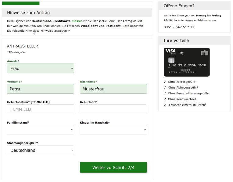 PaySol Deutschland Kreditkarte Antrag