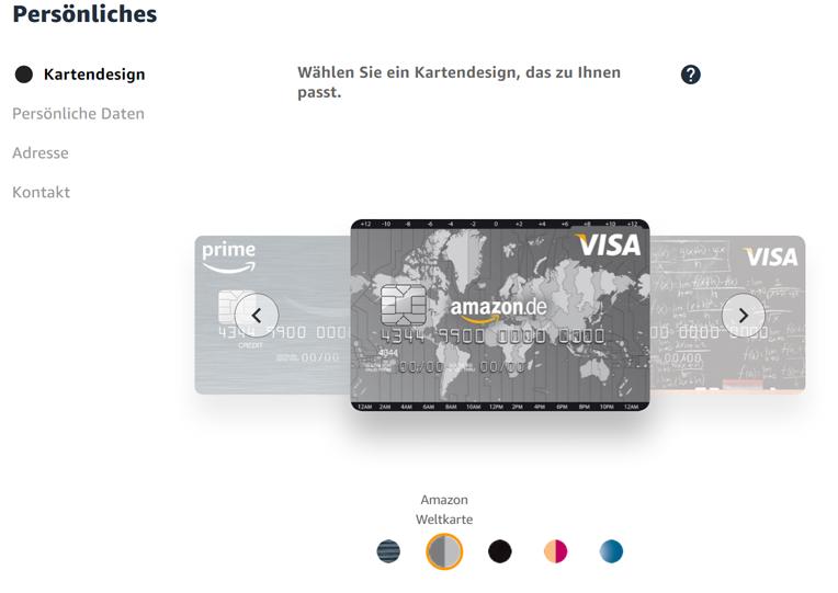 Amazon Visa Card Antrag