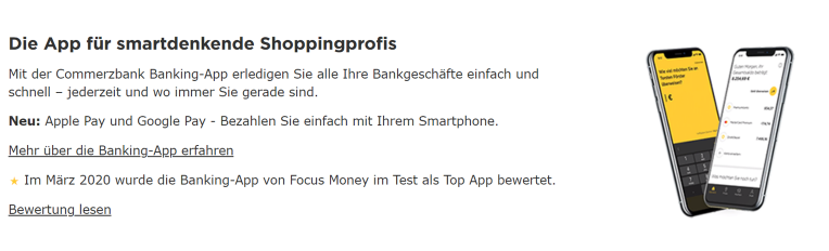 Commerzbank Apple-Pay und Google-Pay