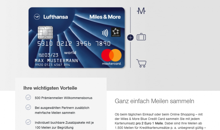 Miles & More Blue Credit Card Vorteile