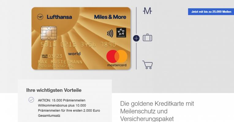 Die Vorteile der Miles & More Gold Cards