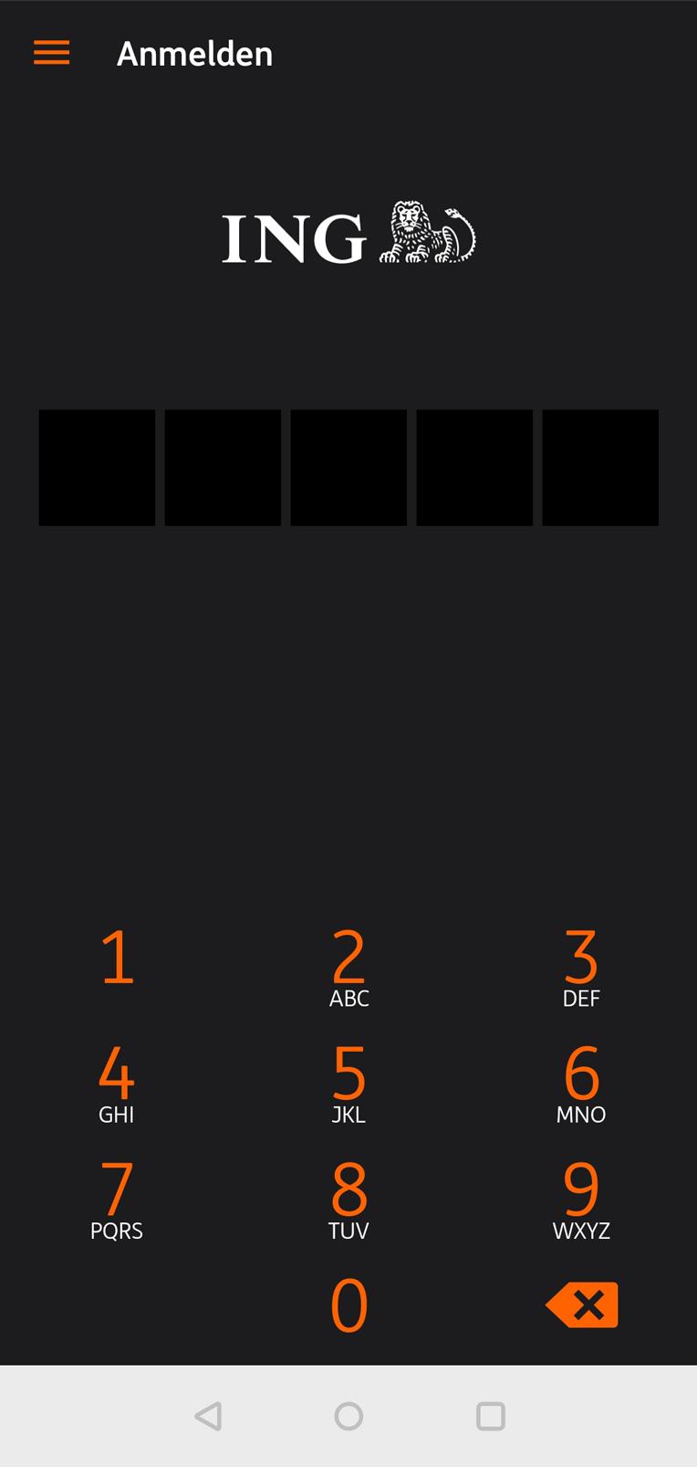 ING Android App Login