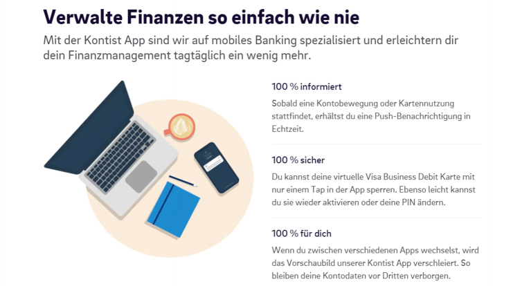 Kontist Finanzverwaltung
