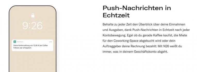 N26 Push-Nachrichten