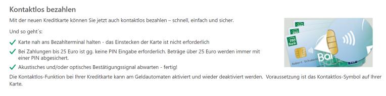 PSD Mastercard Kontaktlos bezahlen