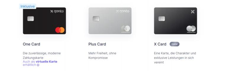 Qonto Kreditkarten