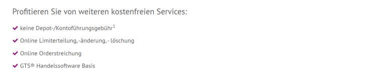 kostenfreien Services der onvista Bank