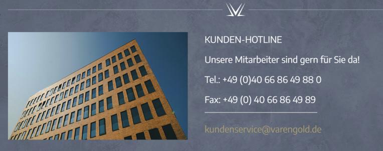 Varengold Bank Kontakt