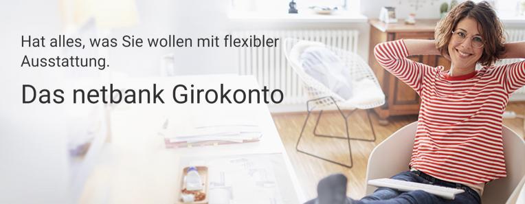 Das Netbank Girokonto hat alles mit flexibler Ausstattung.