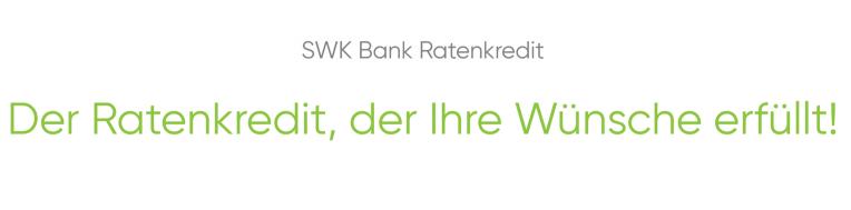 SWK Bank Ratenkredit