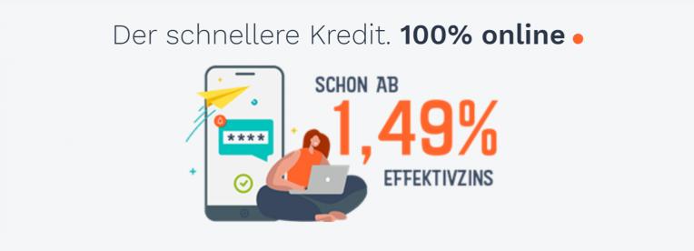 Der schnellere Kredit. 100% online