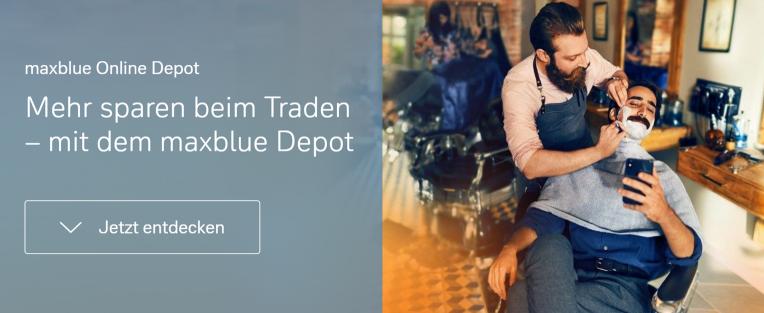 Mehr sparen beim Traden – mit dem maxblue Depot