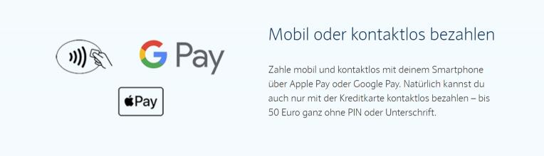 Mobil oder kontaktlos bezahlen