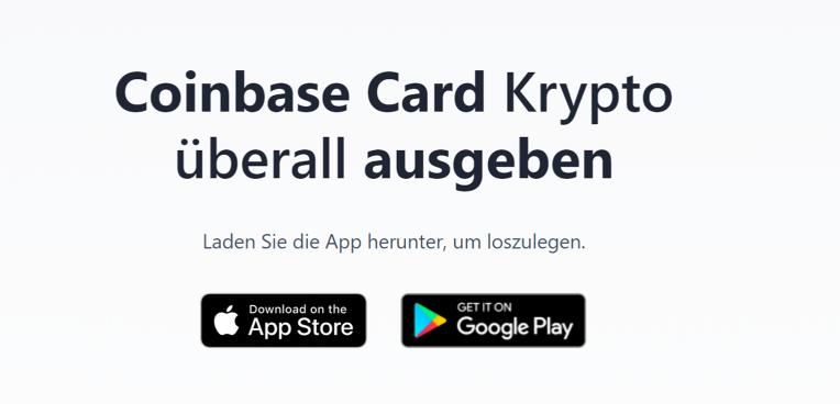 Coinbase Card Krypto überall ausgeben -App
