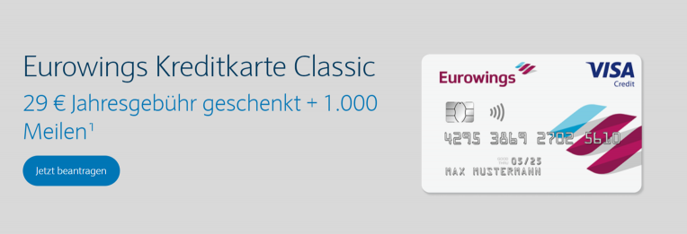 Eurowings Kreditkarte Classic
