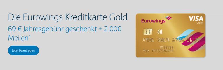 Die Eurowings Kreditkarte Gold